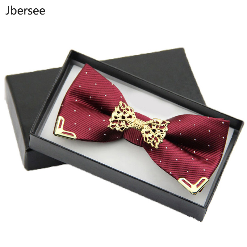 Jbersee Fashion Business Men's Shirt Butterfly Bowtie Wedding Silk Bow Tie For Men Women Neck Tie Gravata Slim Masculina Cravate
