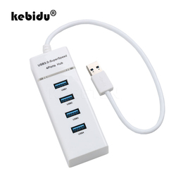 kebidu 4 ports High Speed USB HUBs Hi-Speed 4 Port USB 3.0 Multi HUB Splitter Expansion For Desktop PC Laptop Adapter USB HUB
