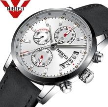 NIBOSI 2018 часы Мода Большой циферблат Военная Кварцевые Для мужчин часы кожа ход Для мужчин t часы Высокое качество часы