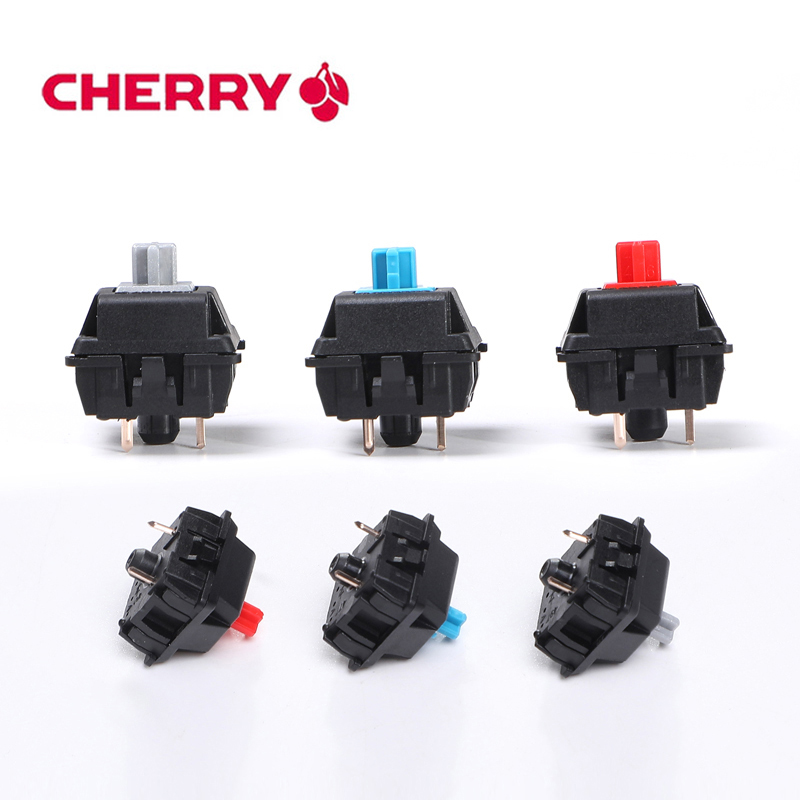 8 Pcs Original Cherry Mx Switch Mechanical Keyboard Switch Silver Mx Brown Blue Red Switch 3 Pin feet Cherry Mx Clear Switch(China)