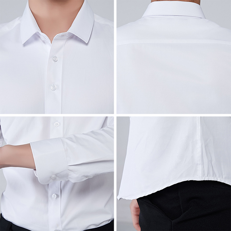 Image 5 - BROWON Brand Men Shirt Business Hydrophobic Material Long Sleeve Anti fouling Social Shirt Slim Fit Shirt Big Size 5XL-in Casual Shirts from Men's Clothing