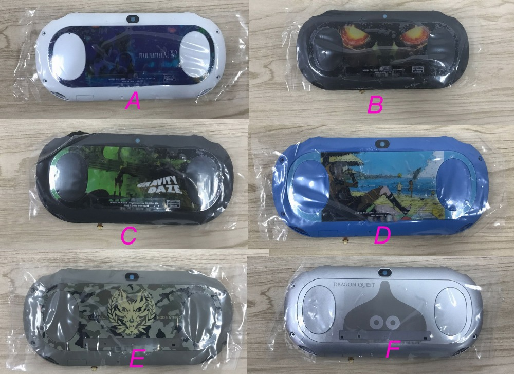 Limited Edition Original Rear Back Cover For Ps Vita Psv Psvita 2000 PCH-2006 Housing Case Faceplate With Touch Screen Panel