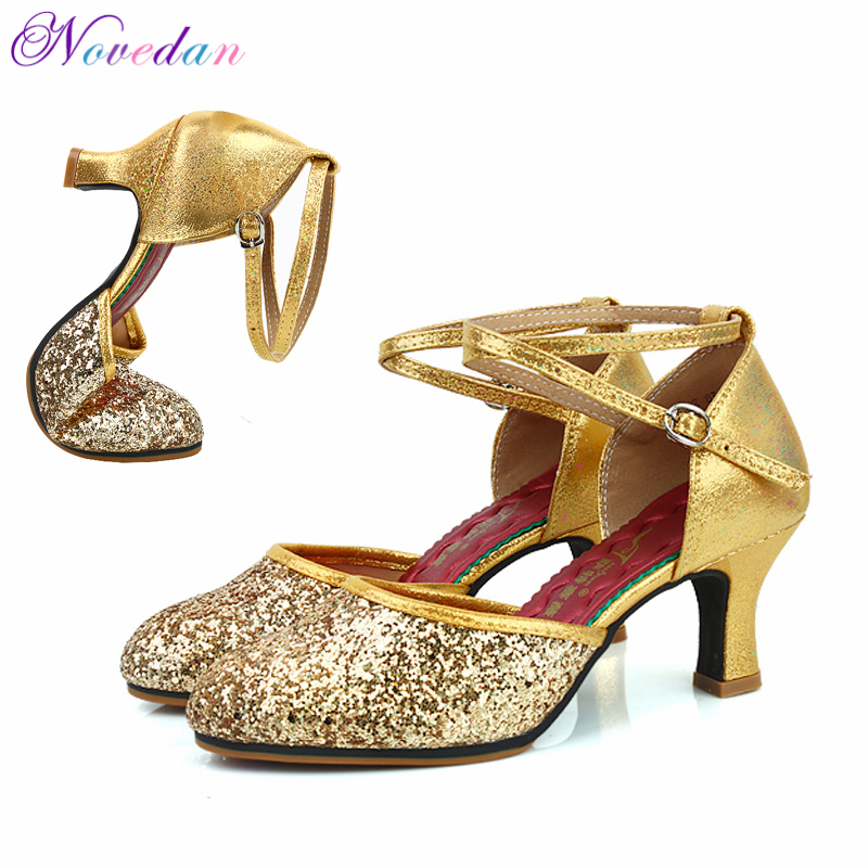 Women Professional Soft Rubber Sole Outdoor Indoor Closed Toe Modern/ Samba/ Tango/ Ballroom/ Salsa/ Latin Dance Shoes