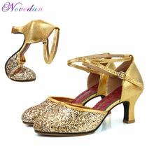 Las mujeres profesionales suela de goma suave de interior al aire libre del  dedo del pie cerrado moderno Samba Tango salón de ba. ba07bc96a721