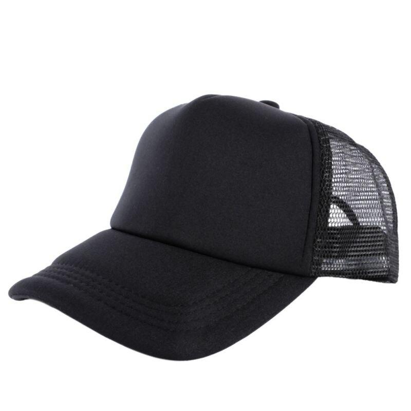 Adjustable Summer Cozy Hats for Men Women Attractive Casual Snapback Solid Baseball Cap Mesh Blank Visor Outside Hat LL3