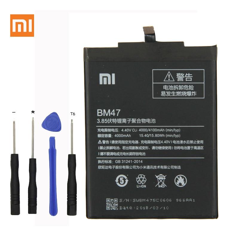 Bateria Do Telefone Para Xiaomi Redmi Xiaomi originais Redmi 3 s 3 s Redmi 3X BM47 4100 mah