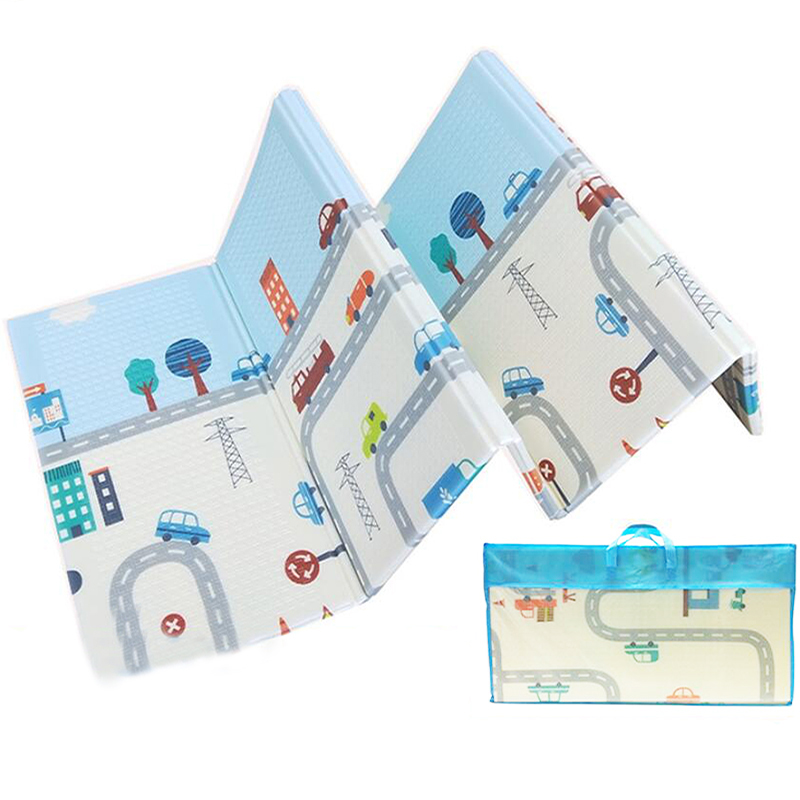 1cm Thick Foldable Baby Play Mat XPE Child Carpet Climbing Road Pad Foam Pad Environmental Tasteless Game Blanket Toys