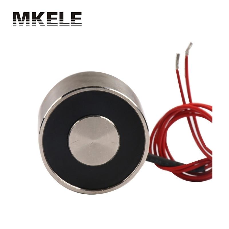 Lifting Magnet Holding Electromagnet Lift 20Kg Solenoid 12V DC 6W P34/25 Magnetic Materials Imanes De Neodimio China  цены