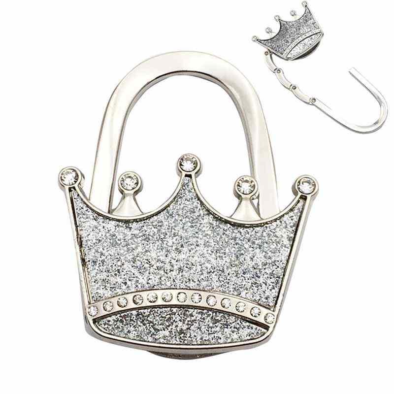 Bolso de mano con forma de corona de Metal con textura
