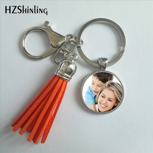Personalized Custom Tassel Keychain Photo Of Your Baby Mum Of Child Grandpa Parent Well-Beloved Keyring The Family Gift OMG