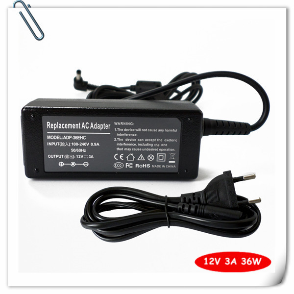 Laptop Ac Adapter for Asus Eee PC 1000 1000H 1000HD 1000HE 900 901 904HA 904HG ADP-36EH C Power Supply Cord 12V 3A