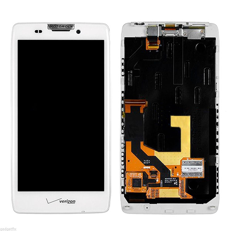 White For Motorola Droid Razr XT925 HD XT926 Touch Screen Digitizer Glass Panel LCD Display Assembly+Frame High Quality