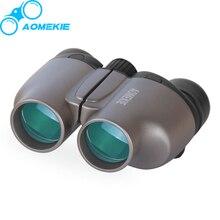 AOMEKIE 8X25 бинокль HD BAK4 Prism профессиональный компактный дикий поле зрения Открытый Охота телескоп с мягким ремешком Прохладный подарок