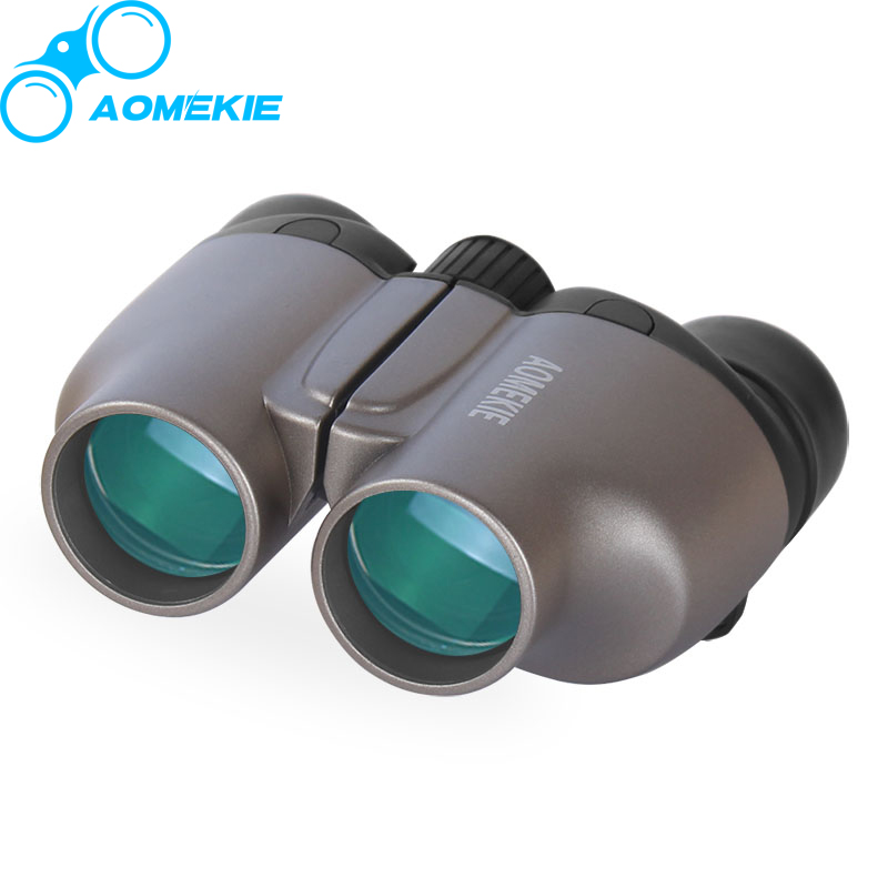 AOMEKIE 8X25 Binoculars HD BAK4 Prism Professional Compact Wild Field Vision Outdoor Hunting Telescope with Soft Strap Cool Gift бинокль cl zj 01 cl zj 01 lightweight compact folding 21 roof prism binoculars