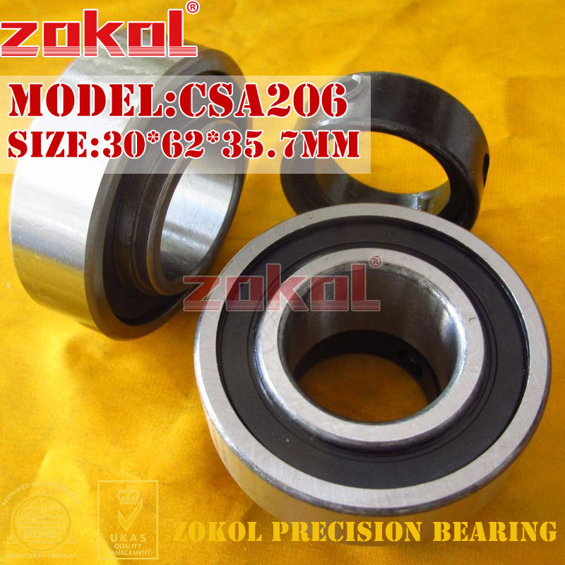 ZOKOL bearing CSA206 Pillow Block Ball Bearing 30*62*35.7mm zokol bearing 51312 thrust ball bearing 8312 160 200 31mm