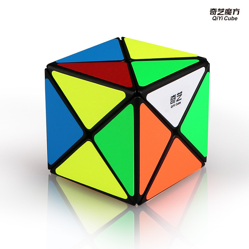 QY Cube Qiyi MoFangGe X Shape Magic Cube 3X3X3 Antistress Professional Speed Puzzle Twist for Kids Toys Training Education Gift