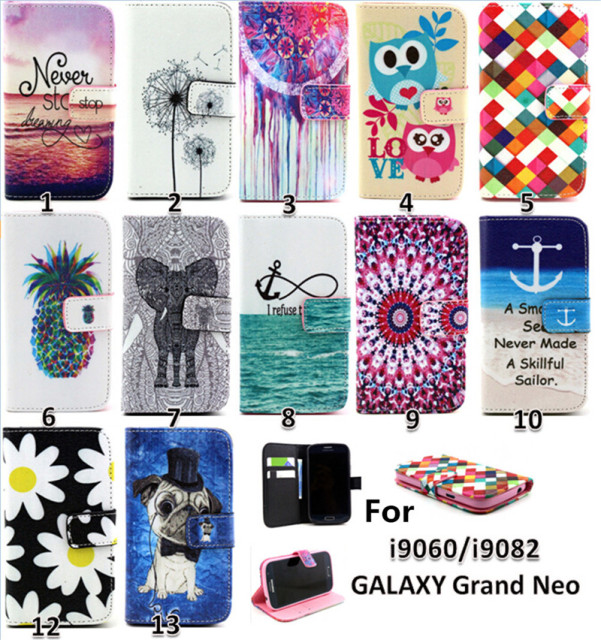 Leather Case Cover For Samsung Galaxy Grand Neo duos i9060