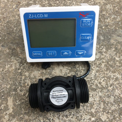 Water Fuel Flow Sensor Meter Teller Indicator Schakelaar Gauge Flowmeter + Digitale LCD Display controller Range 0.1-9999L G1