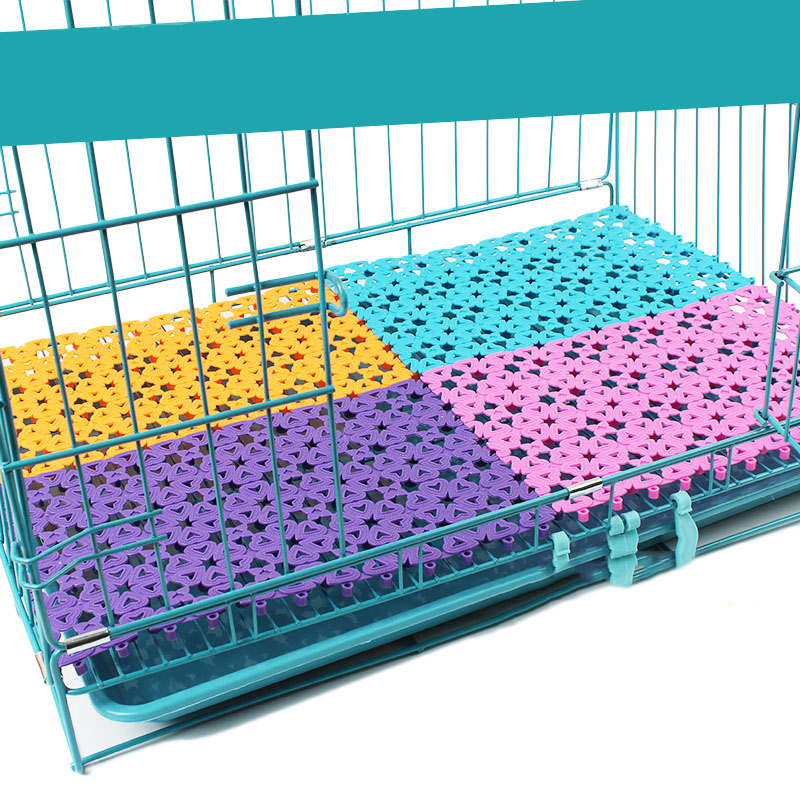Plastic Spliced Pads With Heart Hole For Dog Cage