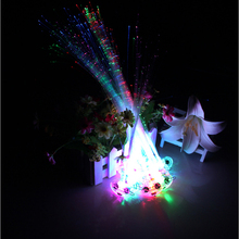 24pcs/lot Free Shipping Flash Glow LED Braids Mix Color Novelty Decoration for Party chrismas, Hair Extension by Optical Fiber