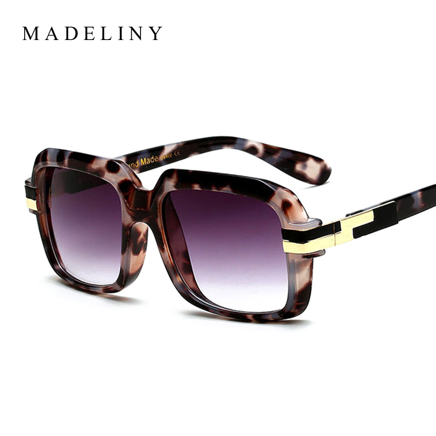 MADELINY Fashion Women Sunglasses New Brand Designer Square Glasses Vintage Oversized Men Sun Glasses 2017 Eyewear MA337