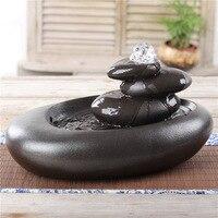 Ротационный кристалл шар скульптура для фонтана искусство аквариум Керамические ремесла Гостиная Декор Подарки 110/220 В L3167
