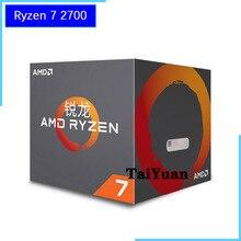 AMD Ryzen 7 2700 R7 2700 3,2 ГГц Восьмиядерный Sinteen Thread 16 M 65 W процессор процессора YD2700BBM88AF разъем AM4