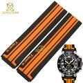 Correa de caucho de silicona pulsera hombres 21mm accesorios venda del reloj de pulsera relojes deportivos correa para T048 417A