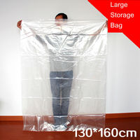 130x160 CM Large Plastic Bags Stroage Bag Flat Open Clear Poly Bags Thinckness 12 Wire Doubl