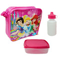 Bolsas princesa de Dibujos Animados los niños bolsa de almuerzo refrigerador aislado bolsa de almuerzo térmica caja de la bolsa para los niños chicos con caja y botella de regreso a la escuela