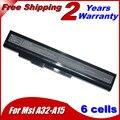 5200 мА*ч Аккумулятор для ноутбука MSi А32-А15 A41-A15 A42-A15 A42-H36 A6400 CR640 CX640DX CX640X CR640DX CR640MX CR640X CX640 10.8 В