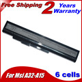 5200 mAh bateria para MSi A32-A15 A41-A15 A42-A15 A42-H36 A6400 CR640 CX640DX CX640X CR640DX CR640MX CR640X CX640 10.8 V