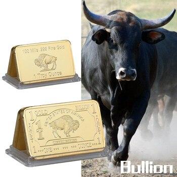 WR 999 Gold One Troy Ounce Atlantis Mint 24k Pure Gold Buffalo Bullion Bar with Free Capsule 5pcs