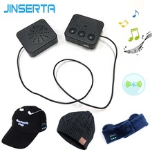 JINSERTA DIY Wireless Bluetooth Headphone Music Smart Hat Cap Eye Mask Earmuff Removable Universal Bluetooth Headset Module
