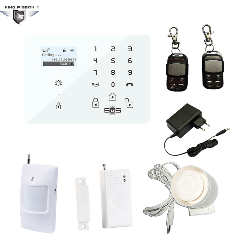 LCD Touch Screen Wireless Alarm GSM SMS Security Home House System IOS/Android APP Remote Control PIR Motion Sensor K9 Panel yobang security touch lcd screen pstn sms alarm system home security gsm alarm system quad band wireless alarm panel