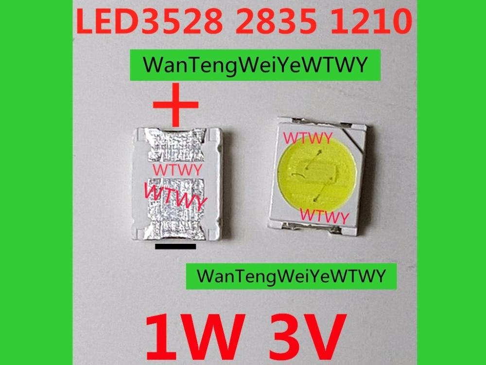 1000pcs UNI LED 3528 2835 1210 LED Backlight TV High Power 1W 3V LED Backlight Cool