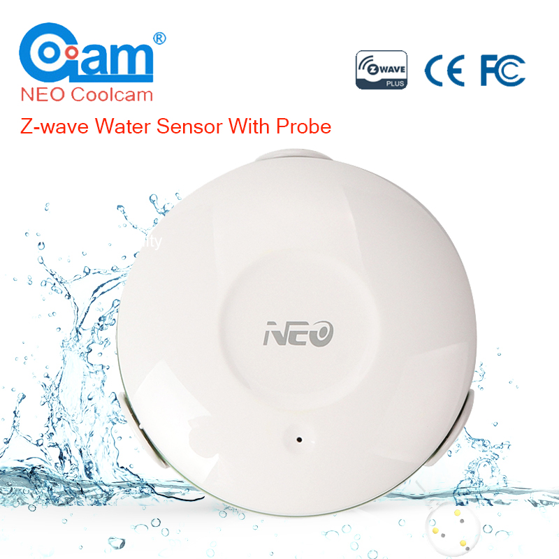 NEO Coolcam Z-Vague D'eau Capteur Avec Sonde D'inondation Fuite D'eau Alarme Capteur de Fuite D'eau Capteur Zwave Alarme Maison Système d'automatisation
