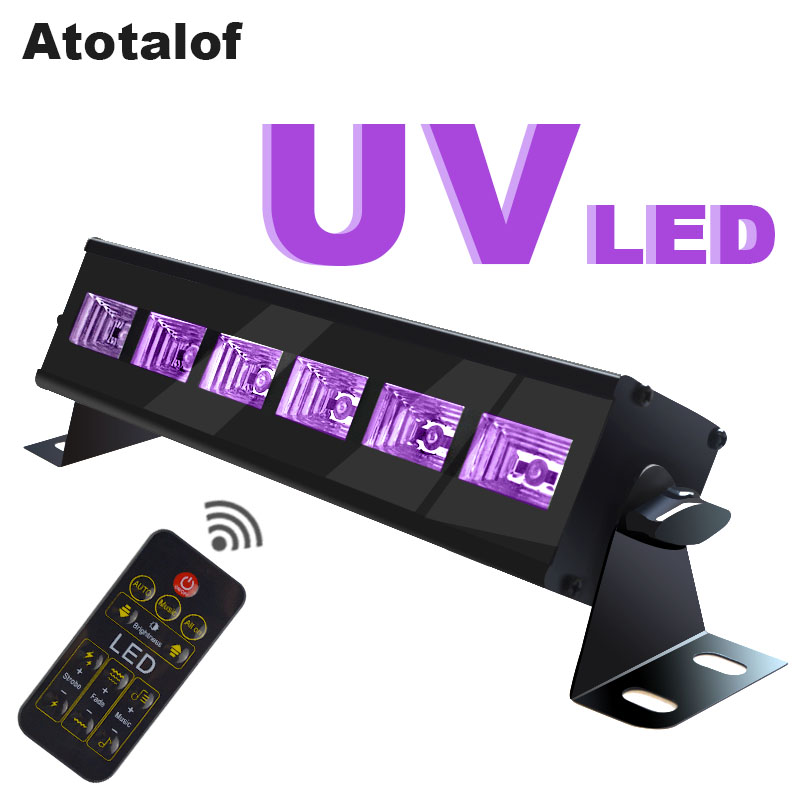 Atotalof Halloween 6LED DMX Stage Light Bar UV Party Lights LED Bar Disco For Home KTV Christmas Laser Projector Lighting