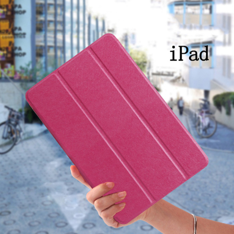Silk Flip Leather Cover Case for Apple iPad Air 1 ipad 5 New iPad 9.7 inch 2017 2018 5th 6th Generation Smart wake Cover Funda