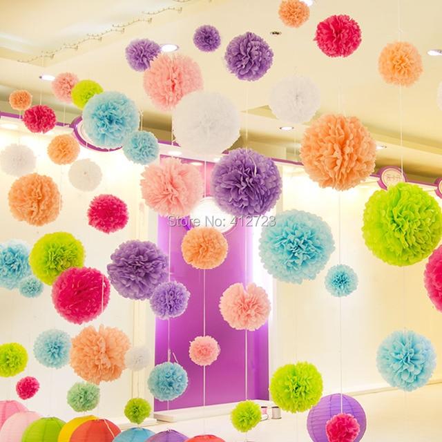 12 30cm Tissue Paper Pompoms Flower Ball Wedding Home Party Bouquet