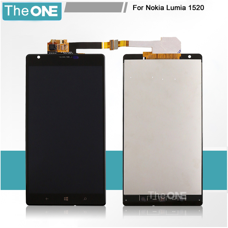 Black For Nokia Lumia 1520 LCD Display + Touch Screen with Digitizer Full Assembly Free Shipping black lcd display touch screen digitizer assembly with bezel frame for nokia lumia 1520 replacements part free shipping