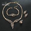 Sistemas de La Joyería de la Señora de La Vendimia del Diseño de Marca de Moda de lujo Collar de Las Mujeres Rhinestone Pulsera de Conjuntos de Joyas de Acero Inoxidable