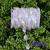 Future And Fancy DIY Iridescent Garland Diamond Acrylic Crystal Beads Strand Shimmer Wedding Decoration Free Shipping
