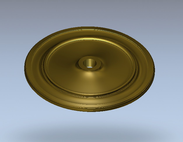 3D Round Plate Ring Relief Model In STL Format For CNC Router Carving Engraving Artcam Aspire R100