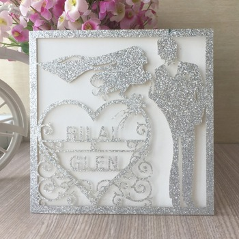 30pcs Laser Cut Delicate Carved Pattern Customizable Wedding Invitations Card Party Favor Greeting Card