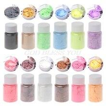 12 цветов перламутровый пигментный порошок MICA Радуга УФ эпоксидная смола ремесло DIY для изготовления украшений вручную мыло цвет ing порошок
