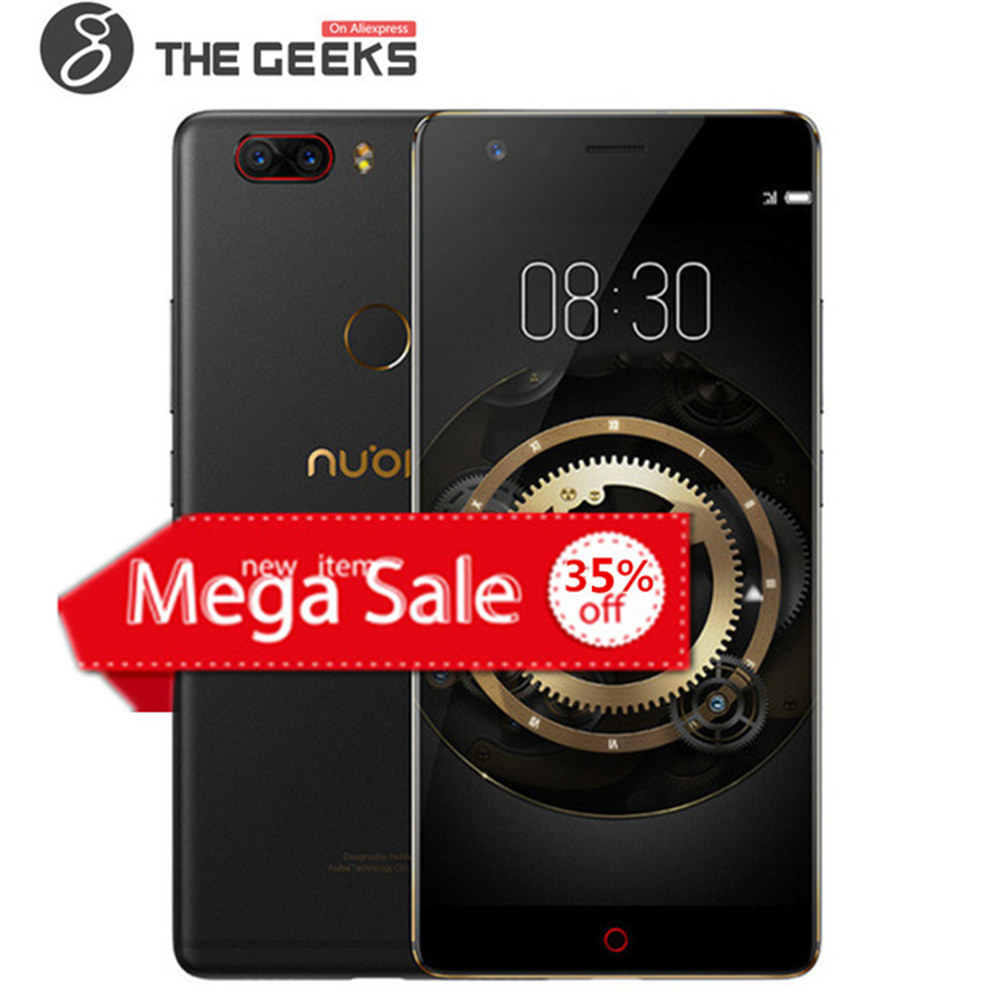 ZTE NUBIA Z17 LITE 6 gb + 64 gb ROM Snapdragon 653 1,95 ghz Octa Core 5,5 zoll 2.5D FHD bildschirm Dual Kamera Android 4g LTE Smartphone