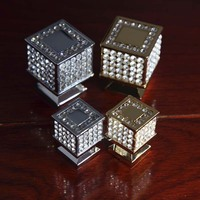Top Quality Fashion Deluxe Glass Diamond Win Cabinet Drawer Knobs K9 Clear Crystal Dresser Wardrobe Door