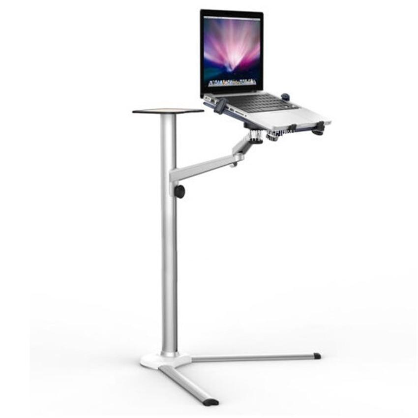 3 in1 UP-8 Aluminum Alloy 7-13 Tablet PC+ Smartphone Holder + Laptop Floor Stand Rotary Swivel Height range 31-108cm