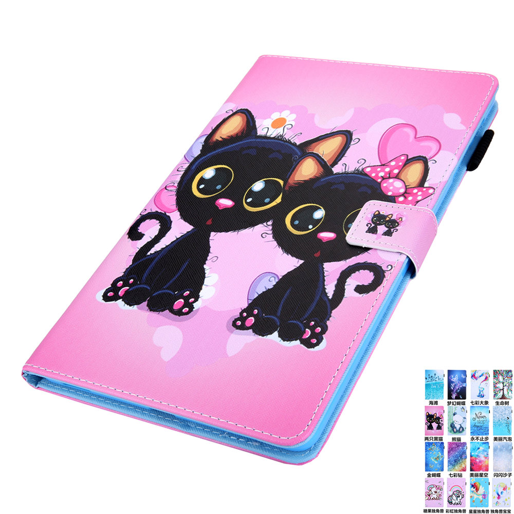 Painted PU Leather <font><b>Case</b></font> for Samsung Galaxy Tab A 10.1 2019 <font><b>T510</b></font> T515 SM-<font><b>T510</b></font> SM-T515 Cover Funda Tablet Protective Sleeve Bags image